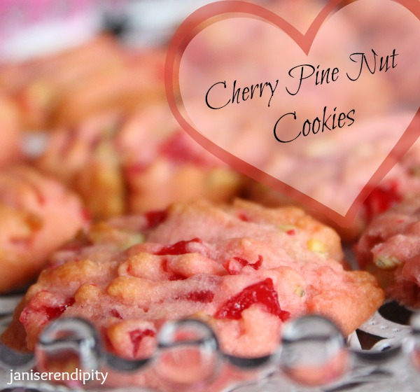 cherry pinenut cookies 7